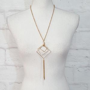 Anthropologie Long Pendant Tassel Necklace